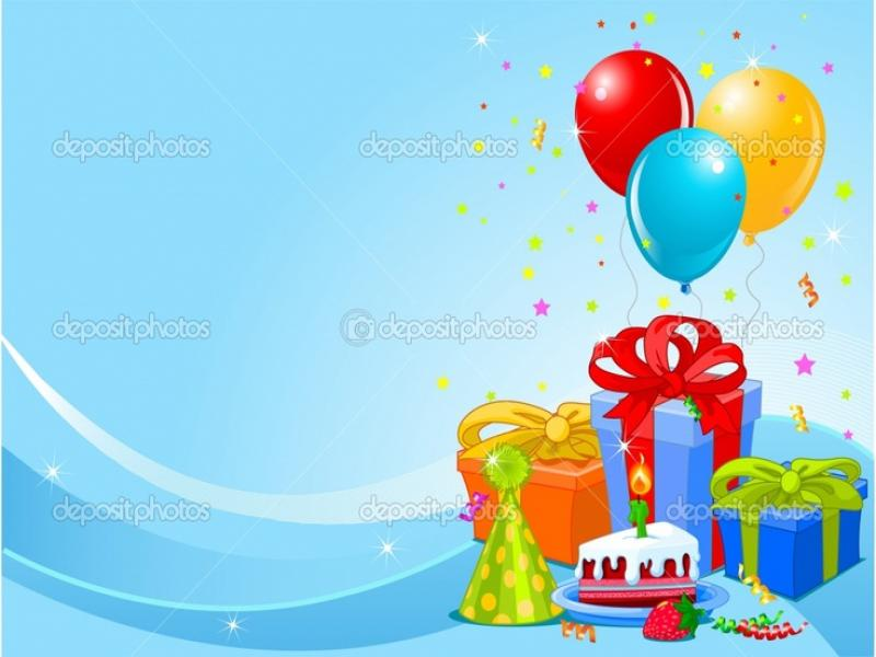Background And Birthdays Presentation Backgrounds For