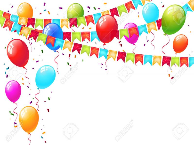 balloons celebration picture backgrounds for powerpoint templates