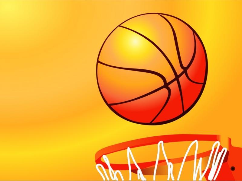 Basketball Hoop Sport  Orange Sports Yellow  PPT   Slides Backgrounds