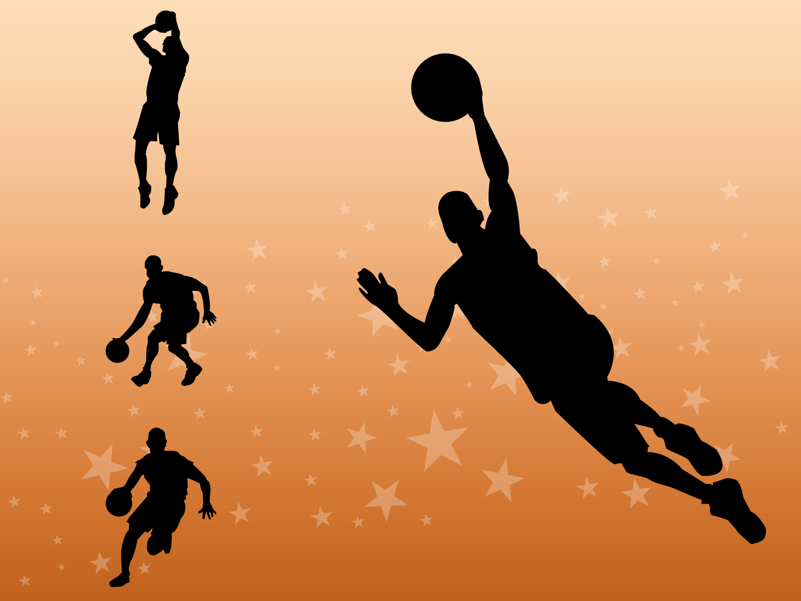 Basketball Players  Sports  PPT Graphic Backgrounds