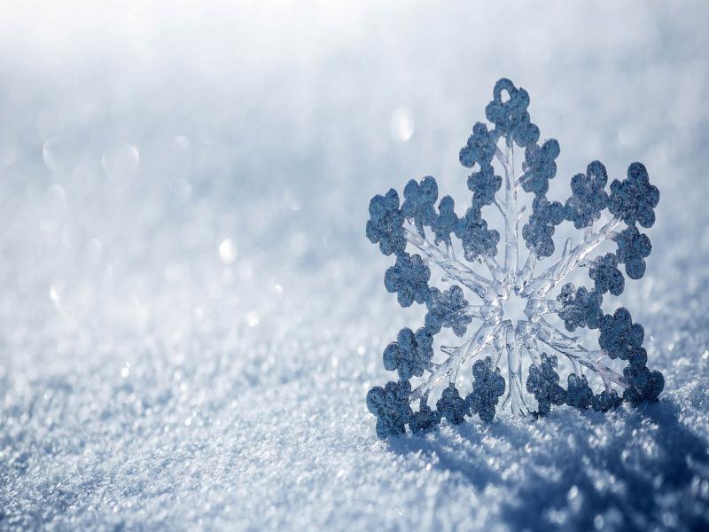 Beautiful Snowflake Texture Blue Hd  Art Backgrounds