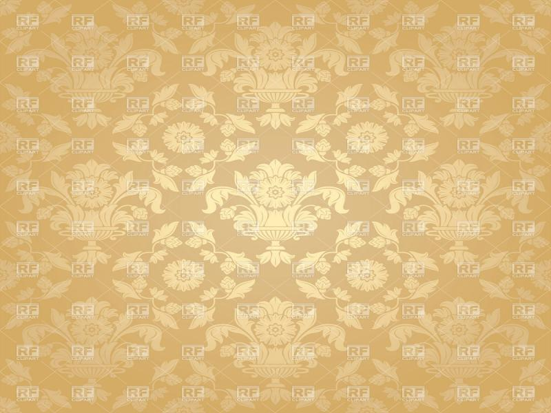 Beige Victorian With Floral Pattern Backgrounds