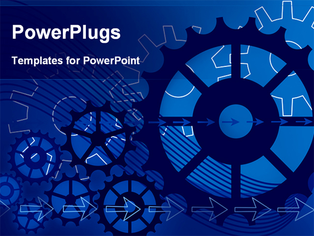 Best PowerPoint Template  Vector Gears Engineering Technology   Picture Backgrounds