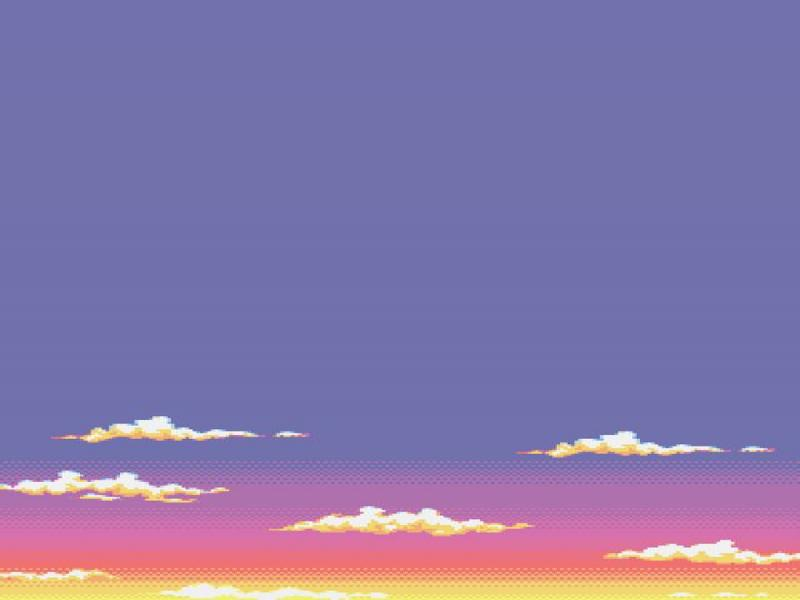 bit sky  8bit pixel art environment sky 8bit pastel