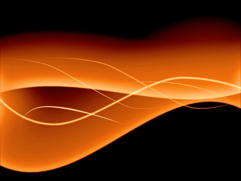 Black and Orange Abstract PPT Backgrounds