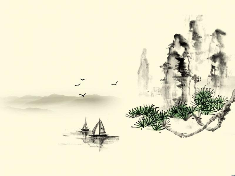 Black and White Chinese Clip Art Backgrounds for Powerpoint ...