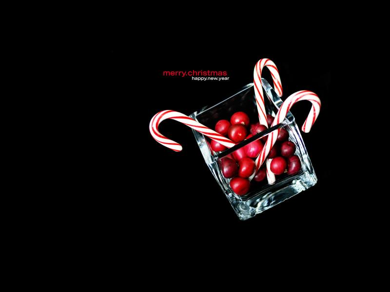 Black Christmas Candy Cane Hd Slides Backgrounds