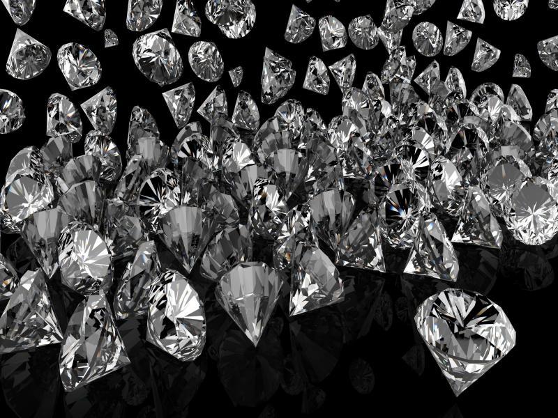 Black Diamonds Desktop Design PPT Backgrounds