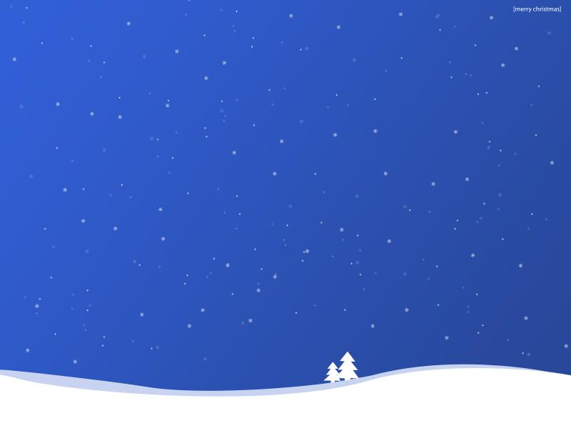 Blue Christmas Snow Backgrounds