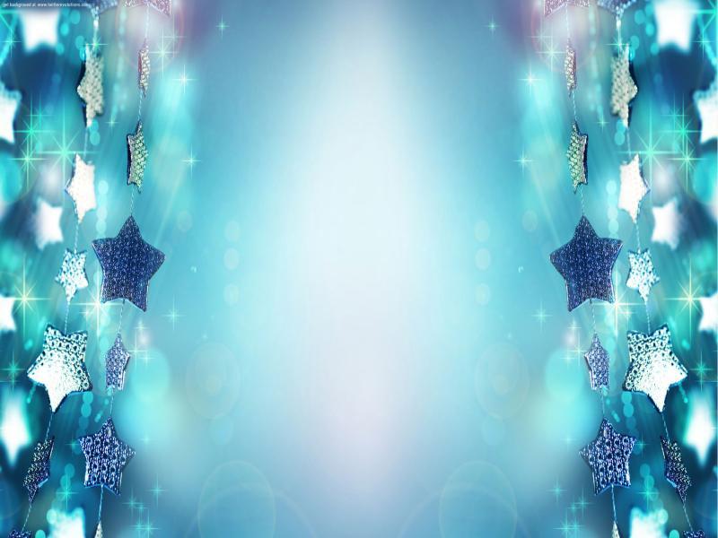 Blue Christmas Stars Frame Backgrounds