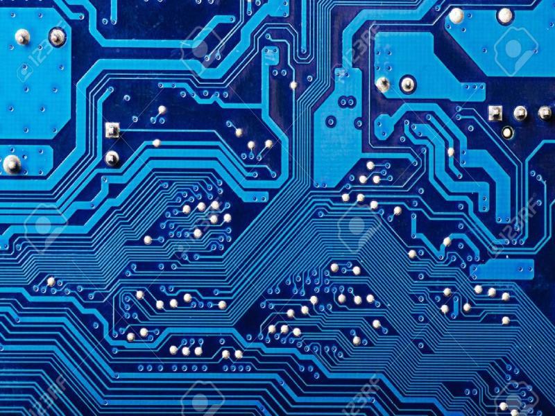 Blue Digital Circuit Board Backgrounds