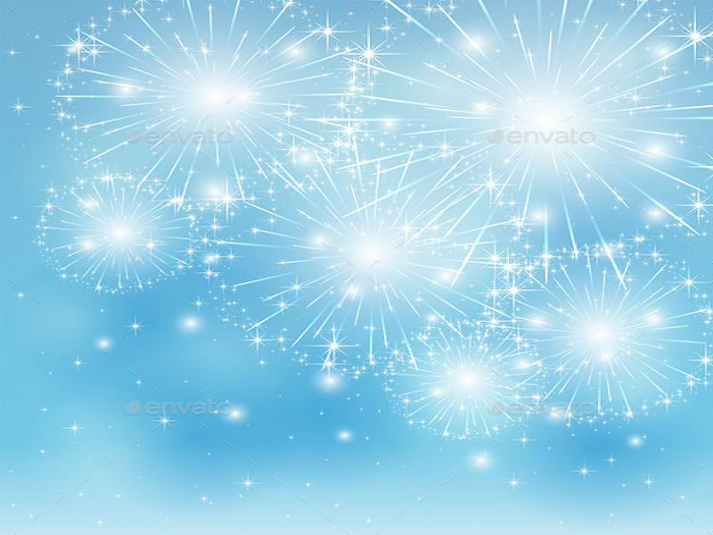 Blue Fireworks Hd Template Backgrounds for Powerpoint ...
