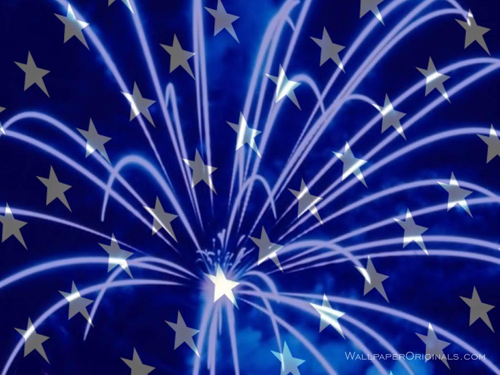 Blue Fireworks Backgrounds