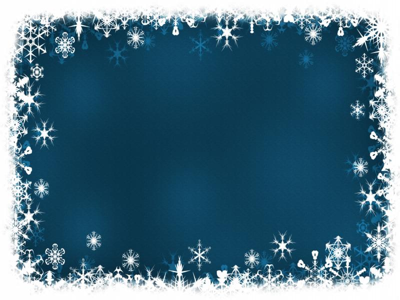 blue frame holiday template backgrounds for powerpoint templates