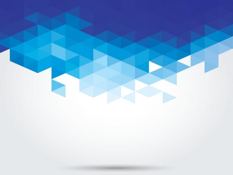 Blue Geometric For Powerpoint Abstract And Textures Ppt Template