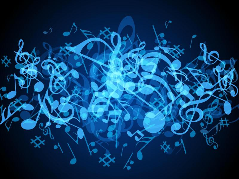 Blue Music Notes Hd Images 3 HDs Backgrounds