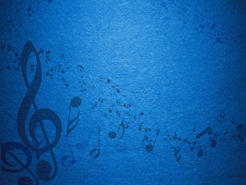 blue music notes backgrounds for powerpoint templates