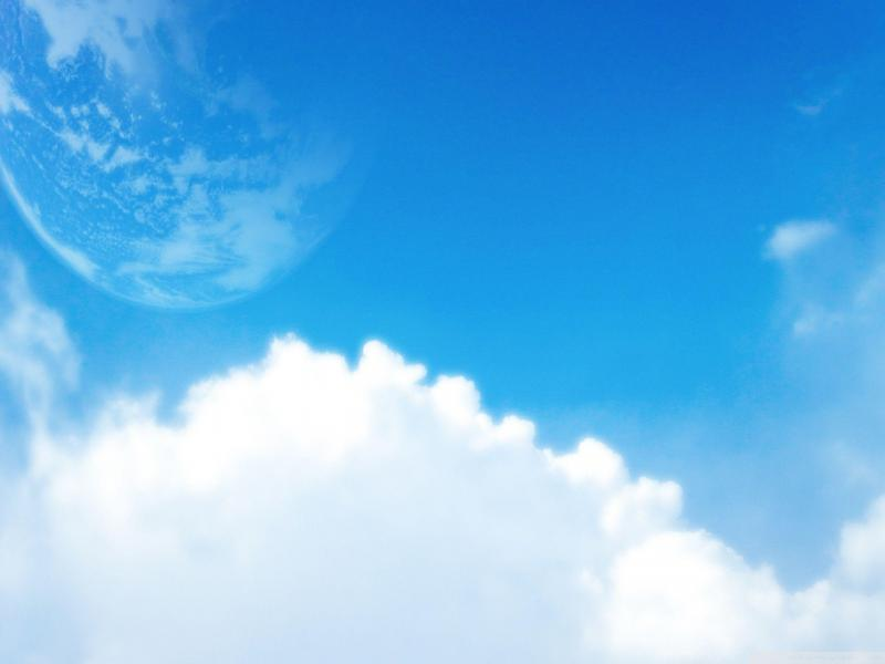 Blue Sky World Shaped Art Backgrounds