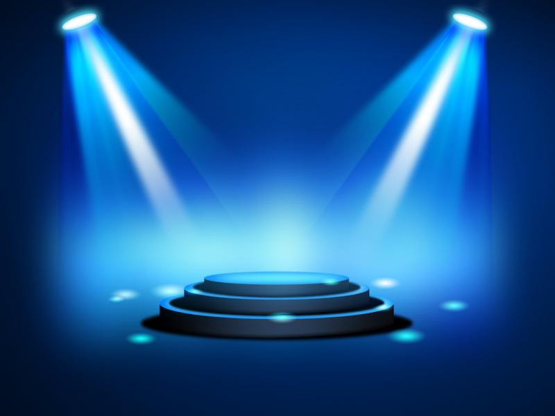 Blue Stage Led Backgrounds
