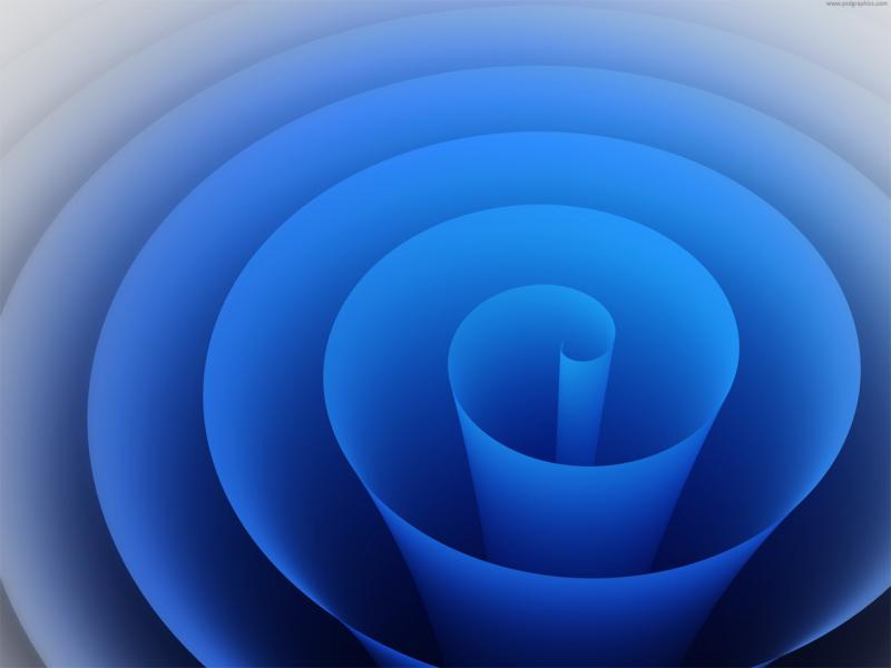 Blue Swirl Roll  Graphic Backgrounds