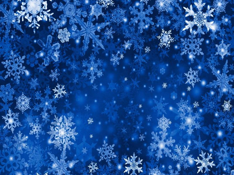 Blue Xmas Snowflakes Clipart Backgrounds