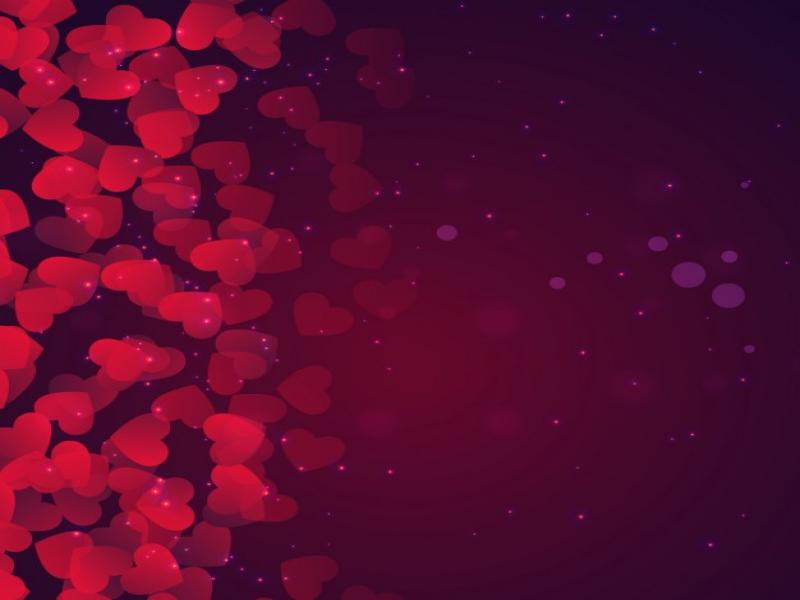 Bokeh Valentines Day In Purple Tones Vector  Free Design Backgrounds