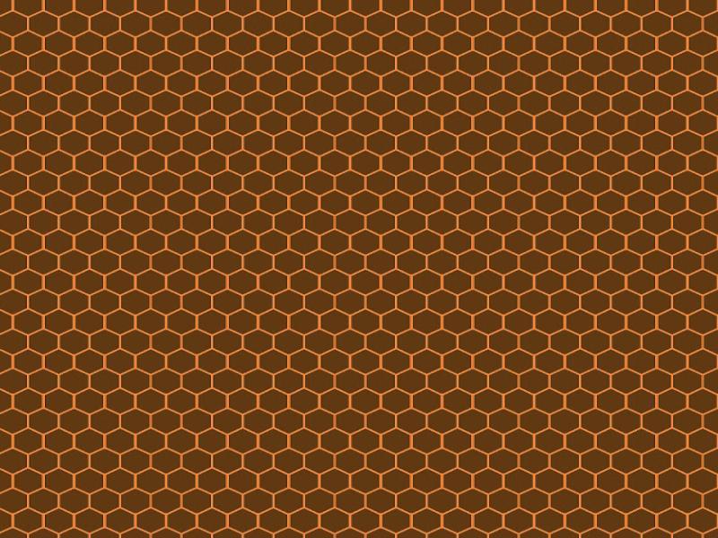 Brown Hexagon Honeycomb Presentation Backgrounds