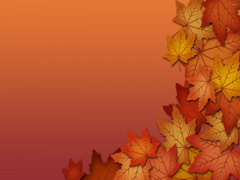 brown leaf border picture backgrounds for powerpoint