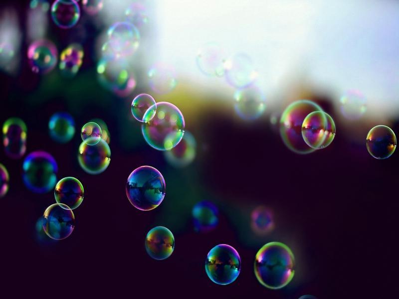 Bubbles Image Presentation Backgrounds