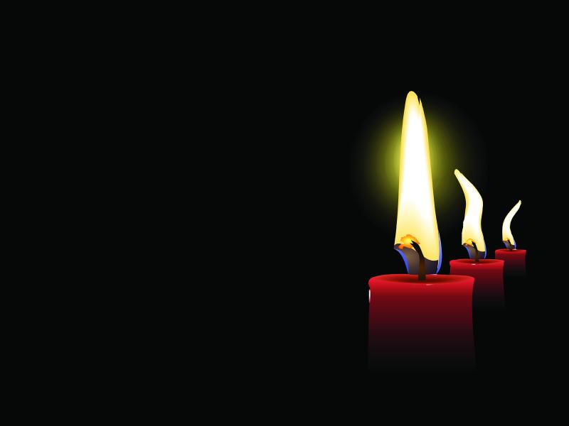 Candle Days Ppt Template For Presentation Ppt Wallpaper