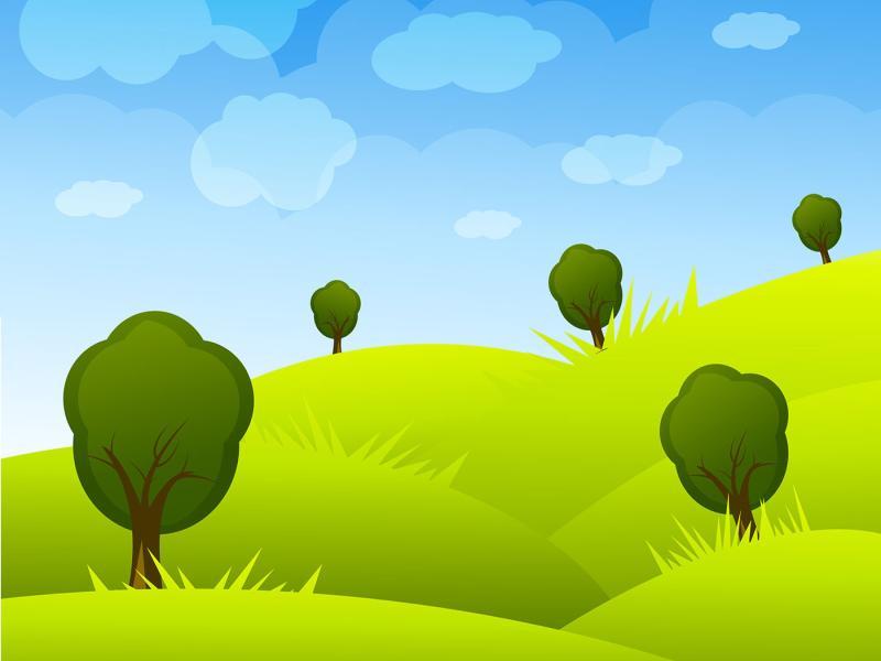 Cartoon Landscape Art Backgrounds