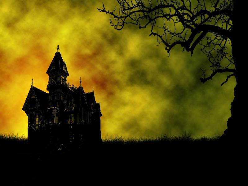 Castle, mysterious, wonderful, night Backgrounds