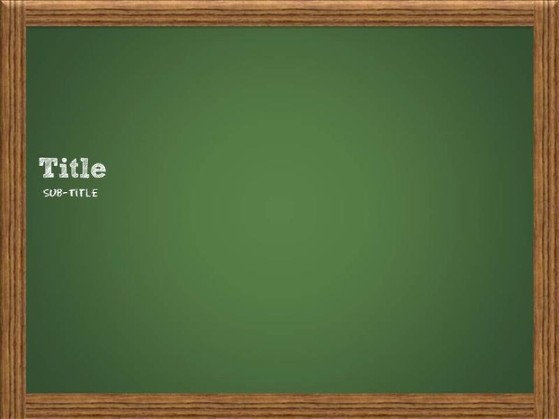 Chalkboard Template Slides Backgrounds