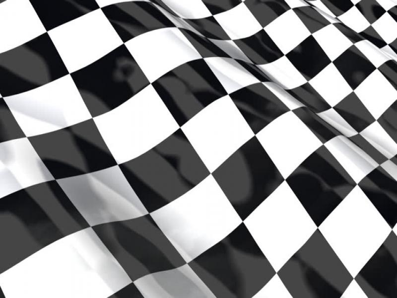 Checkered Racing Flag  Seamless Looping With Reflection HDTV  HD   Graphic Backgrounds