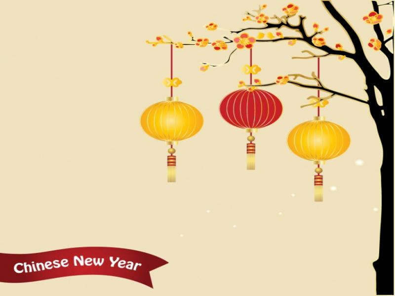 Chinese New Year Vector Image Backgrounds For Powerpoint Templates Ppt Backgrounds