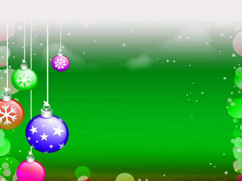 Christmas Decoration Clipart Backgrounds For Powerpoint
