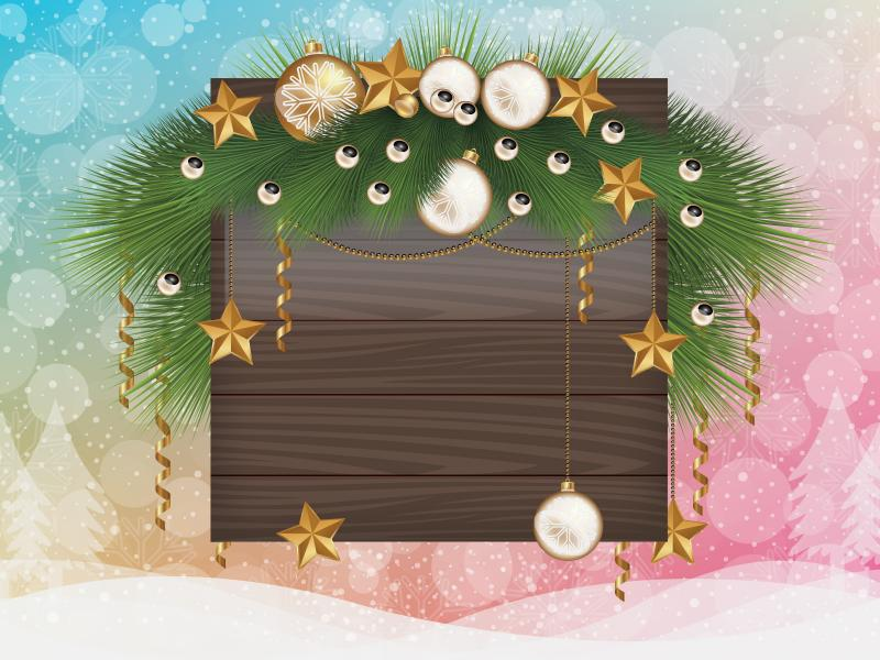 Christmas Frame PPT Backgrounds