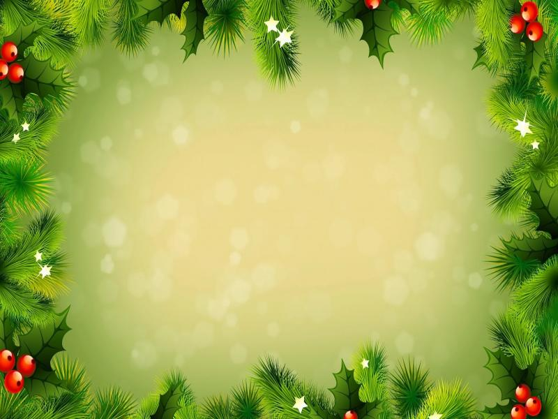 Christmas Greeting Card Message Frame Backgrounds