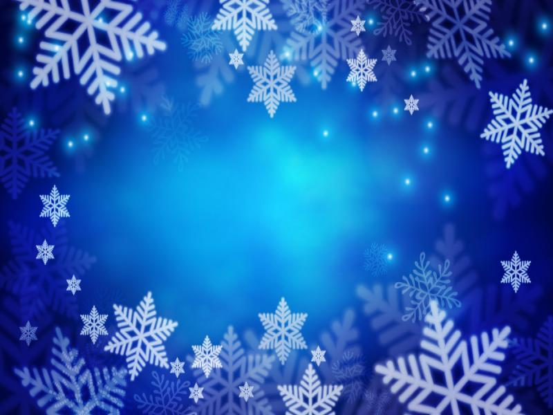 Christmas Snowflakes Blue Design Backgrounds