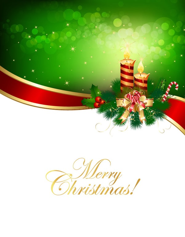 Christmas with Ribbon Backgrounds