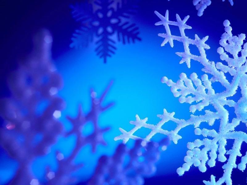 Christmass Blue Template PPT Backgrounds