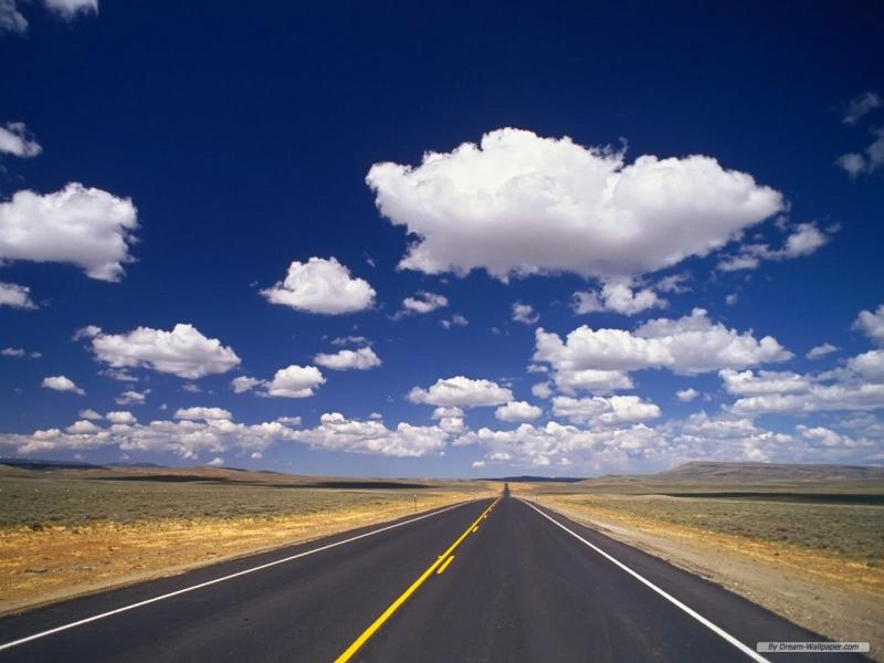 Clouds Sky Road Backgrounds