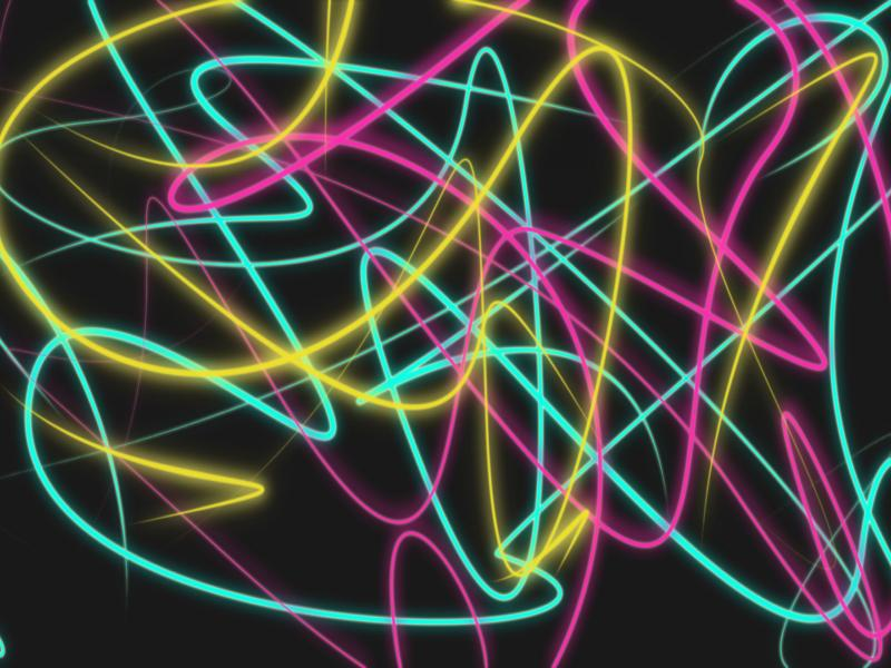 Colored Lines Abstract Neon Wallpaper Backgrounds