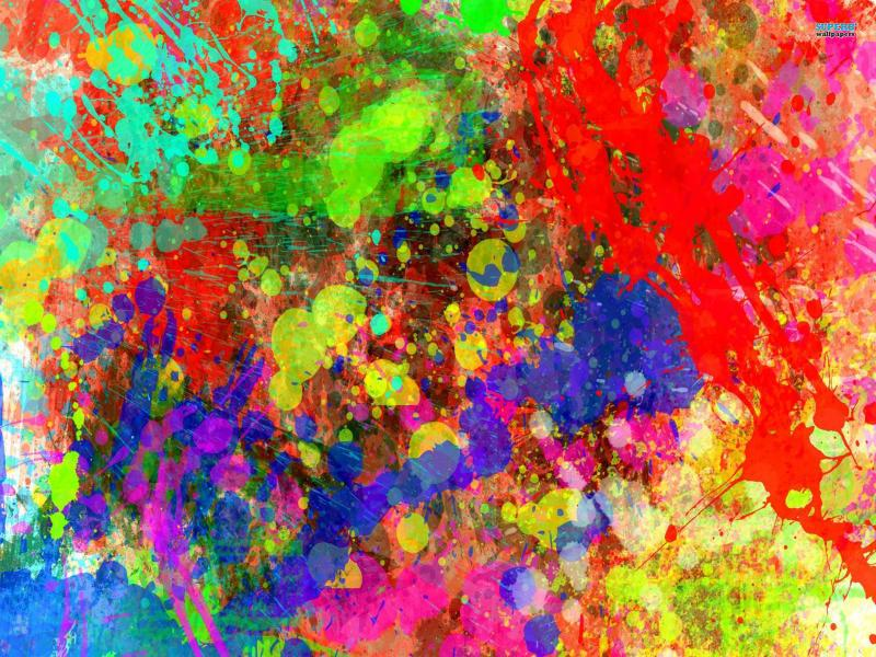 colorful paint splatter backgrounds for powerpoint