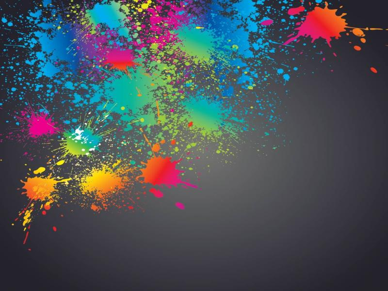 Colorful Splashed Paint Splatter Clip Art Backgrounds