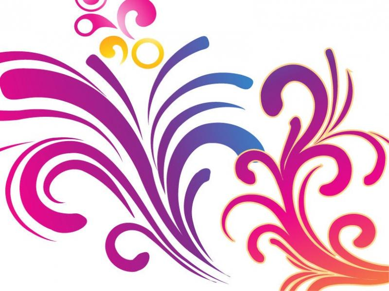 Colorful Swirl Design Backgrounds