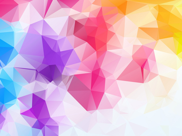 Colour Polygon 9 Backgrounds