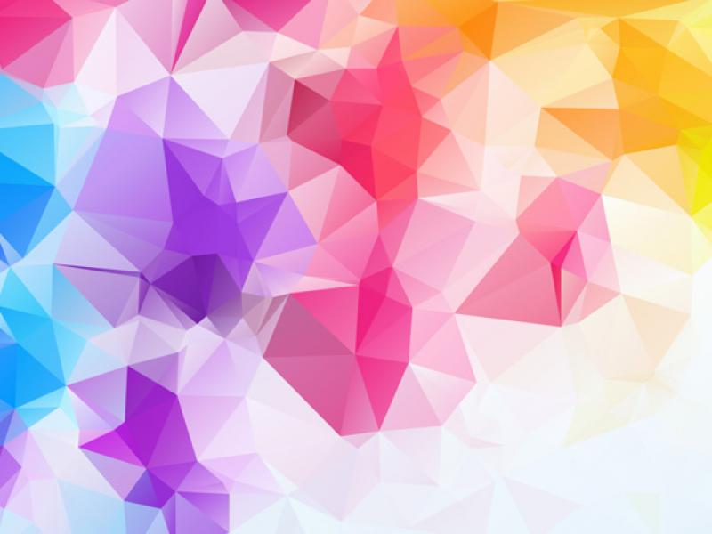 colour polygon 9 backgrounds for powerpoint templates