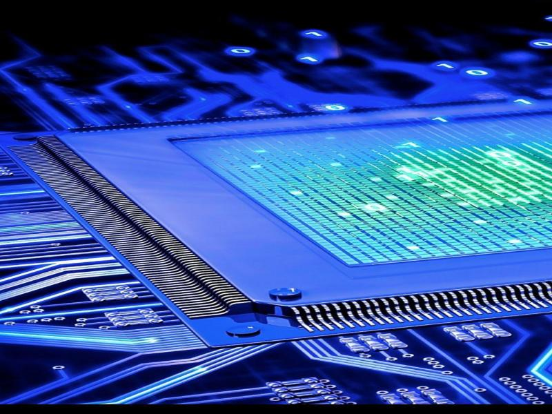 Cpu Blue Motherboard Photo Backgrounds