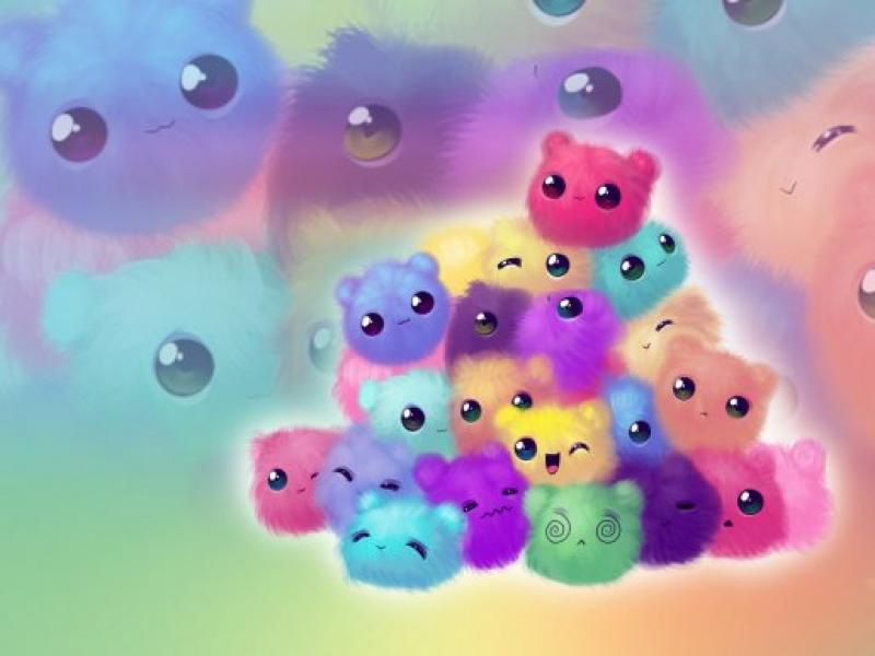 Cute Colors Frame Backgrounds